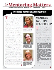 Fall 2012 mentoring matters newsletter