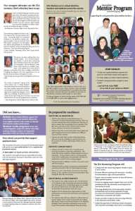 brochure for Journalism Education Association Mentoring Program