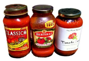 Digital Judy's favorite spaghetti sauce with basil
