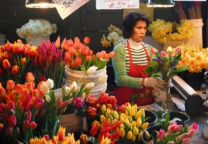 fresh flowers, Pike Street Market