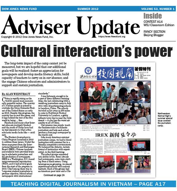 Adviser Update - summer 2012 edition
