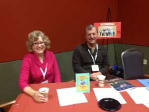Mary Anne McCloud and Bill Flechtner at the Mentor Table