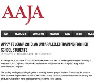 AAJA high school summer workshop