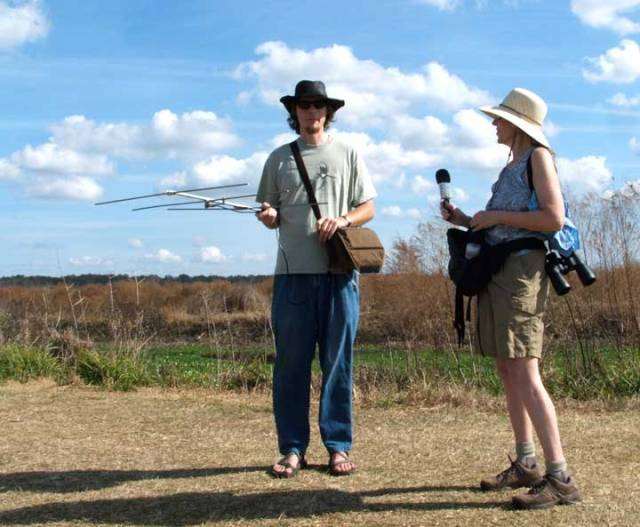 Julie Dodd interviews Tom Czbek, a researcher who was locating Whooping Cranes at Poynes Prairie. You can use the file of the interview in creating an IMovie.