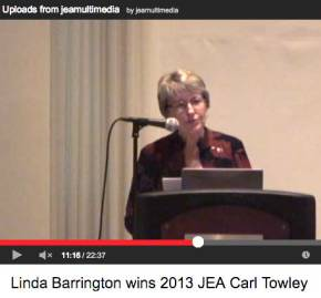 Linda Barrington receives Carl Towley Award; promotes value of JEA Mentoring Program