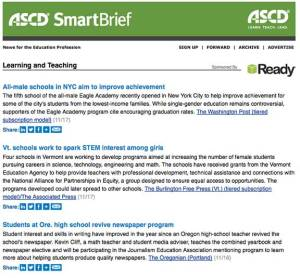 ASCD SmartBrief - JEA Mentoring Program