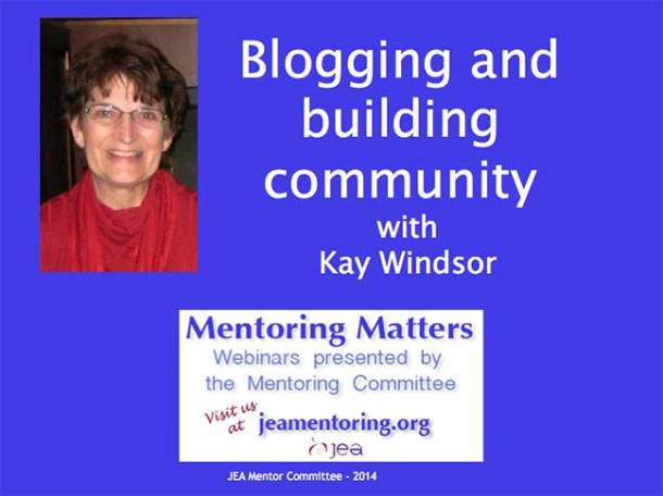 Blogging and building community webinar