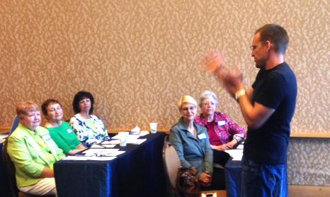 Aaron Manfull speaks at Mentor Forum