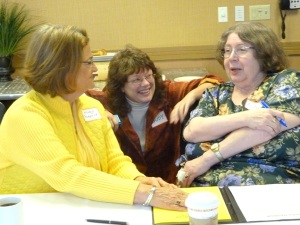 Marie Parsons, Judy Robinson and Sue Ev