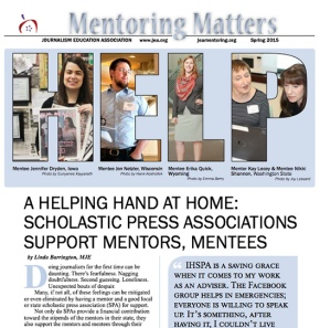 Mentoring Matters Spring 2015 – Read latest updates about JEA Mentoring Program
